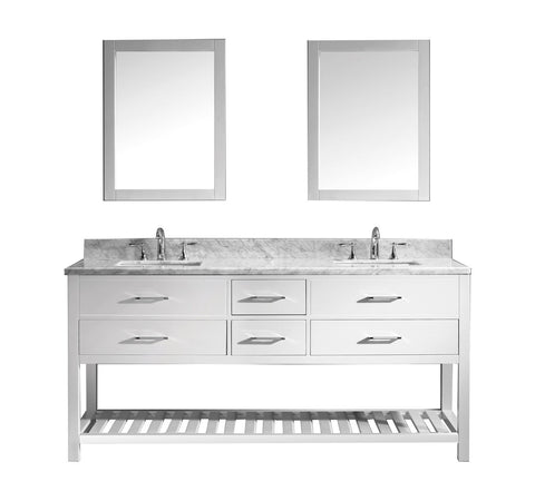 "72"" Double Bathroom Vanity MD-2272-WMSQ-WH"