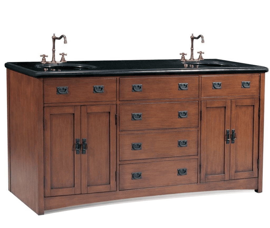 "72"" DOUBLE SINK CHEST - NO FAUCET - 3CM TOP-BACKSPLASH AVALIBLE P5433-03A-3"