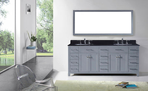 "78"" Double Bathroom Vanity MD-2178-BGRO-ES"