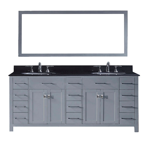 "78"" Double Bathroom Vanity MD-2178-BGRO-GR"