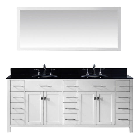 "78"" Double Bathroom Vanity MD-2178-BGRO-WH"