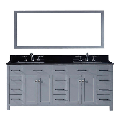 "78"" Double Bathroom Vanity MD-2178-BGSQ-GR"