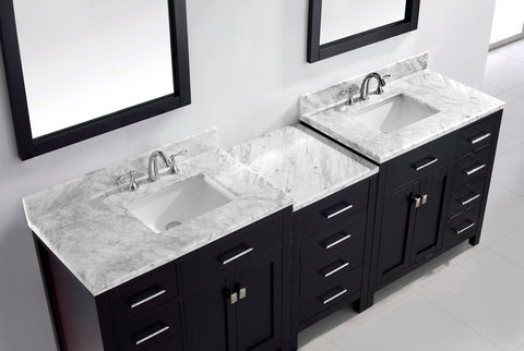 "93"" Double Bathroom Vanity MD-2193-WMRO-ES"