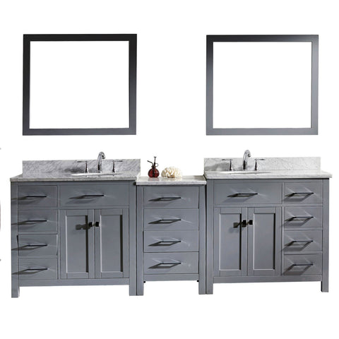 "93"" Double Bathroom Vanity MD-2193-WMRO-GR"