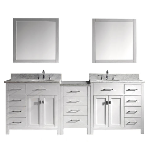 "Image of 93"" Double Bathroom Vanity MD-2193-WMRO-WH"