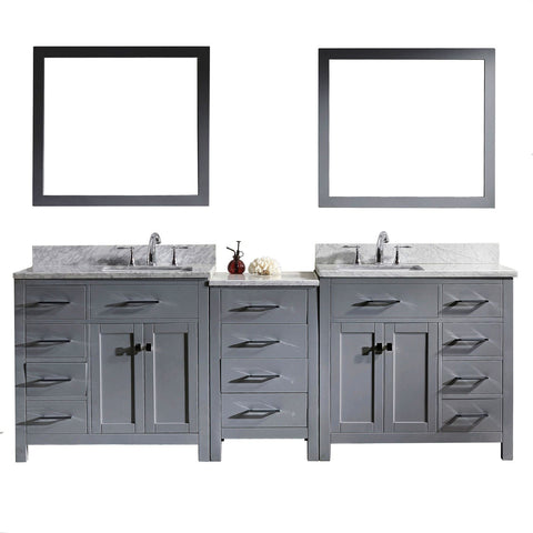 "93"" Double Bathroom Vanity MD-2193-WMSQ-GR"
