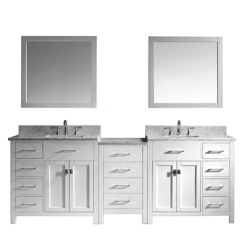 "93"" Double Bathroom Vanity MD-2193-WMSQ-WH"