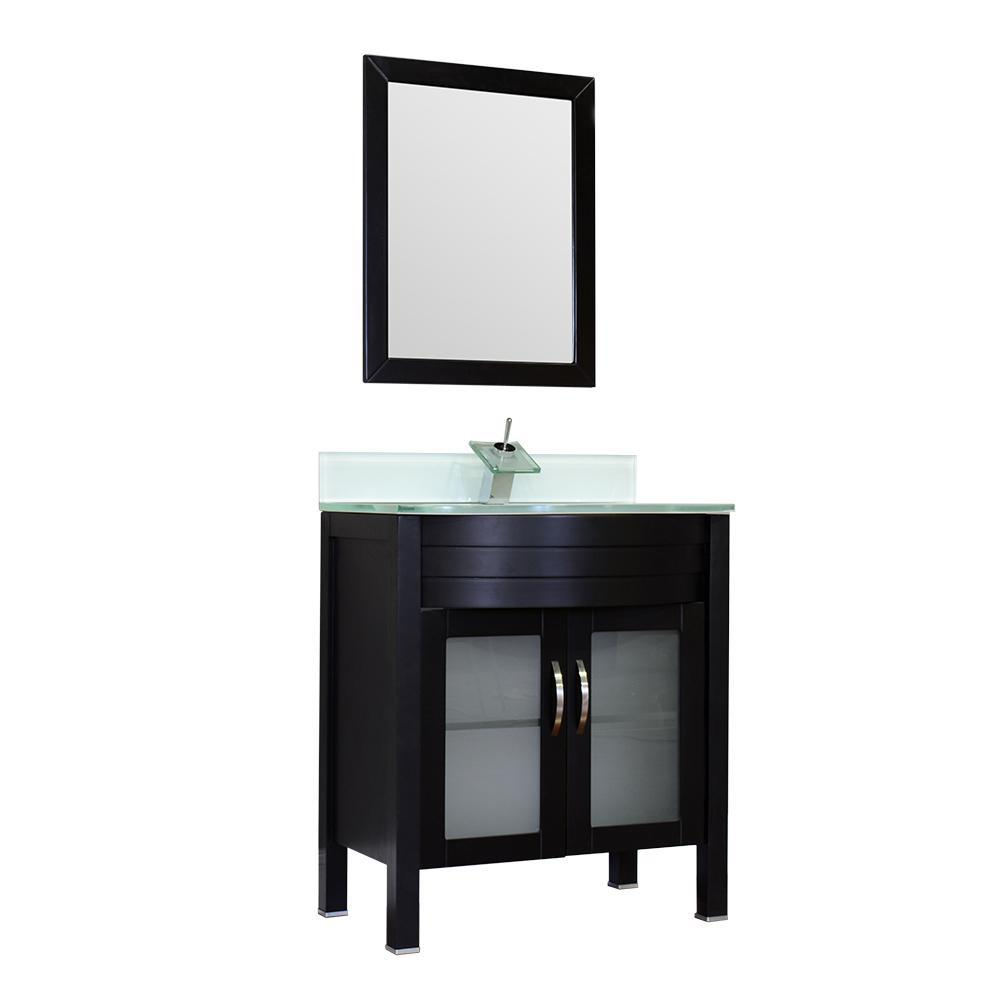"Alya Bath Elite 30"" Single Modern Bathroom Vanity with countertop AW-082-30-B-LGGT-NM"