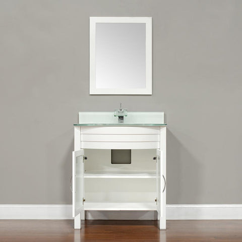 "Image of Alya Bath Elite 30"" Single Modern Bathroom Vanity with countertop AW-082-30-B-LGGT-NM"