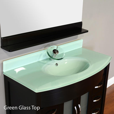 "Image of Alya Bath Elite 42"" Single Modern Bathroom Vanity with Countertop AW-082-42-B-LGGT-NM"
