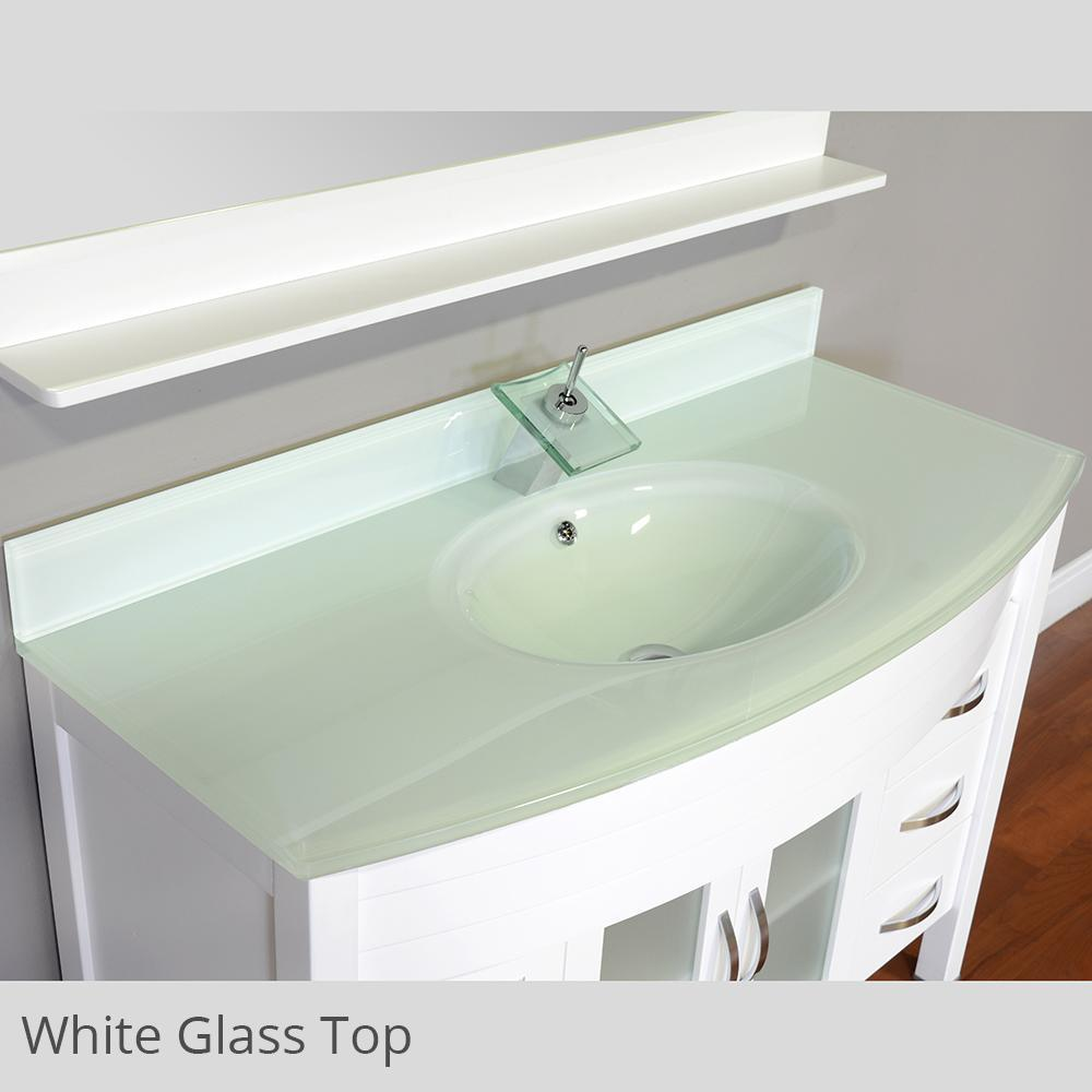 "Alya Bath Elite 42"" Single Modern Bathroom Vanity with Countertop AW-082-42-B-LGGT-NM"