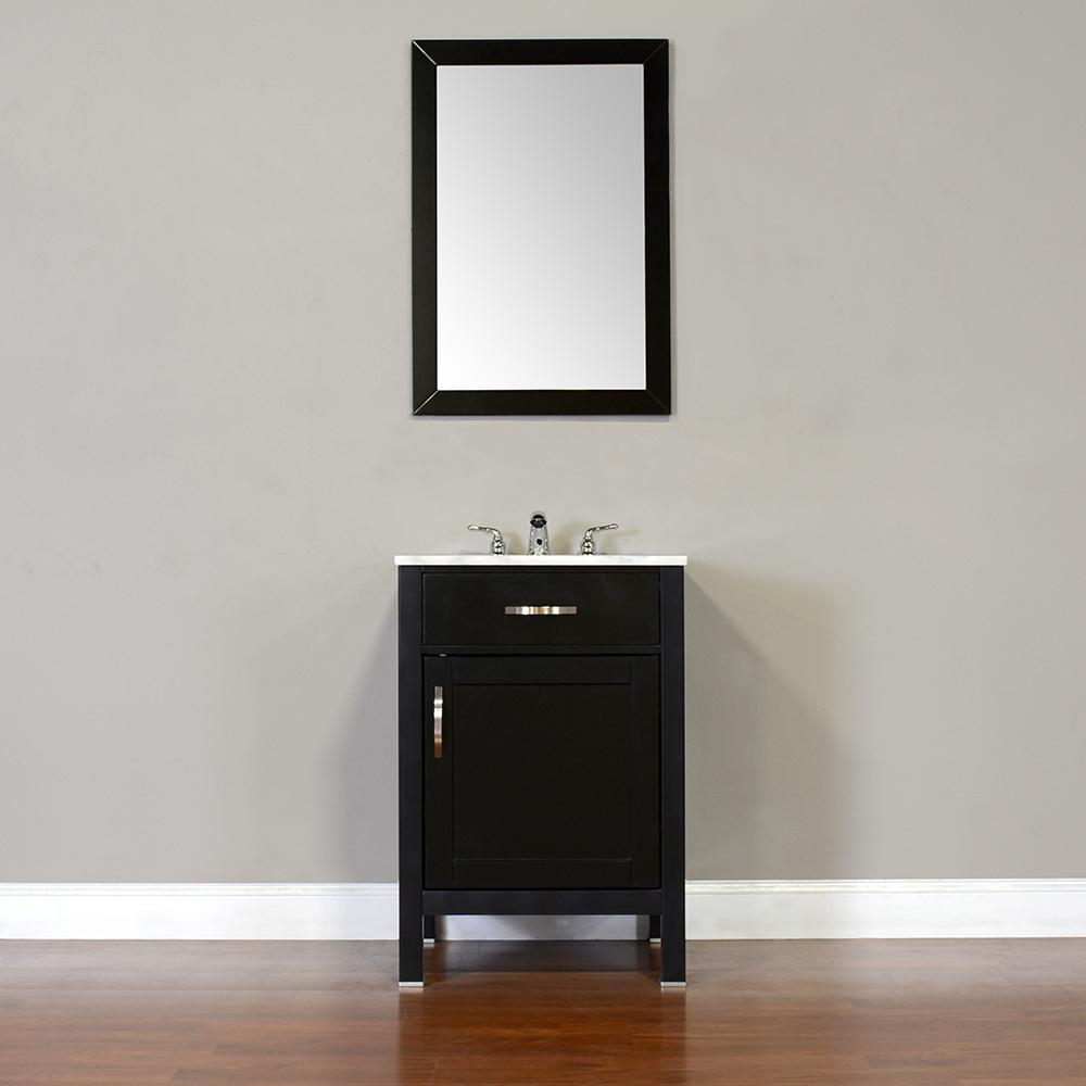 "Alya Bath Hudson 24"" Single Contemporary Bathroom Vanity with Countertop FW-8016-24-B-NT-BMT-NM"