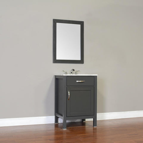 "Image of Alya Bath Hudson 24"" Single Contemporary Bathroom Vanity with Countertop FW-8016-24-B-NT-BMT-NM"