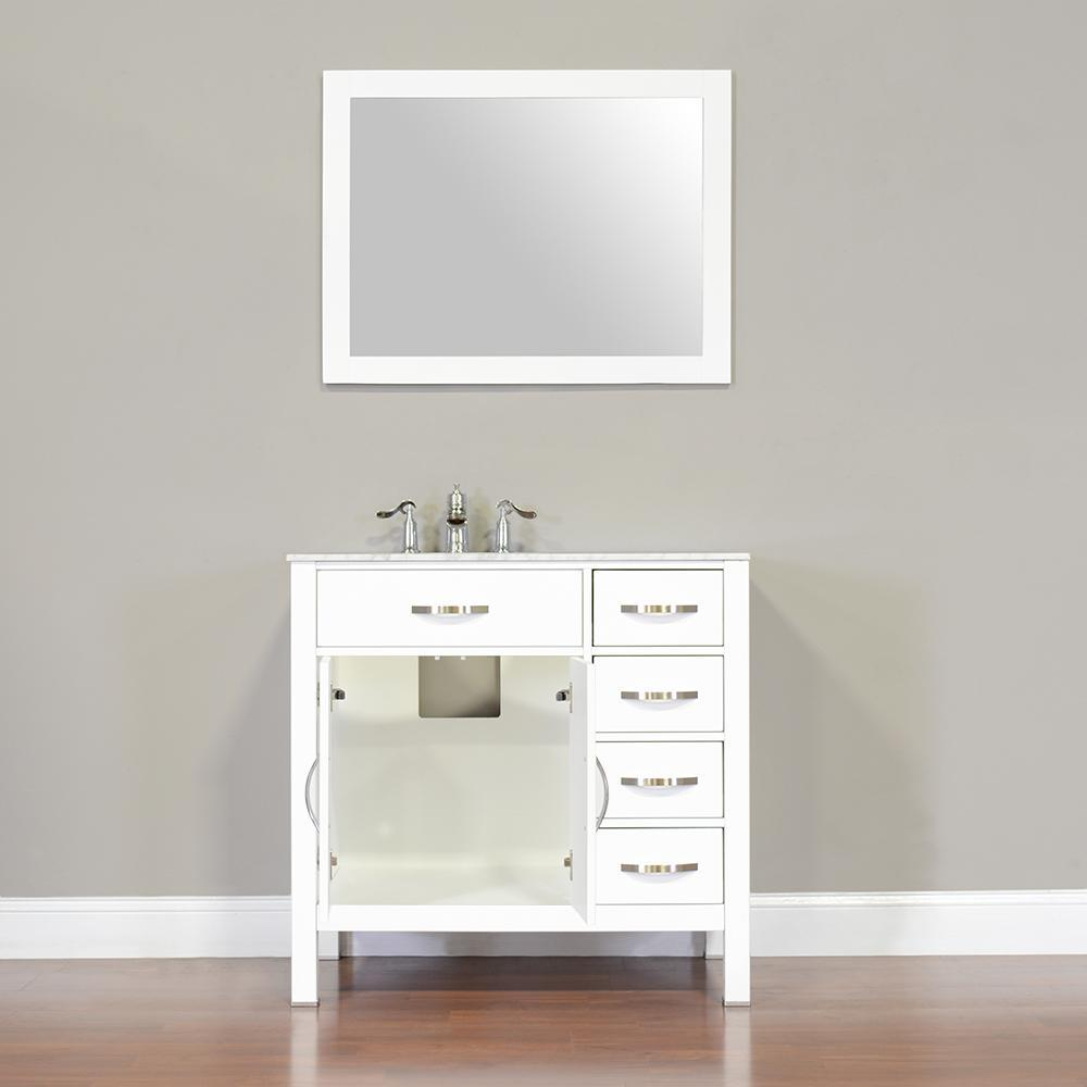 "Alya Bath Hudson 36"" Single Contemporary Bathroom Vanity with Countertop FW-8016-36-B-NT-BMT-NM"