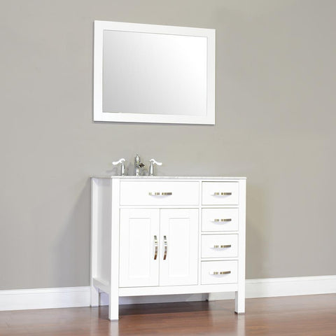 "Image of Alya Bath Hudson 36"" Single Contemporary Bathroom Vanity with Countertop FW-8016-36-B-NT-BMT-NM"