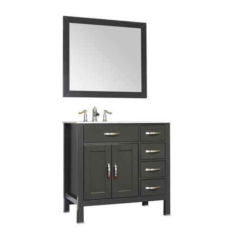 "Image of Alya Bath Hudson 36"" Single Contemporary Bathroom Vanity with Countertop FW-8016-36-G-NT-BMT-NM"
