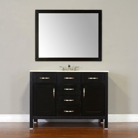 "Image of Alya Bath Hudson 48"" Single Contemporary Bathroom Vanity with Countertop FW-8016-48-B-NT-BMT-NM"