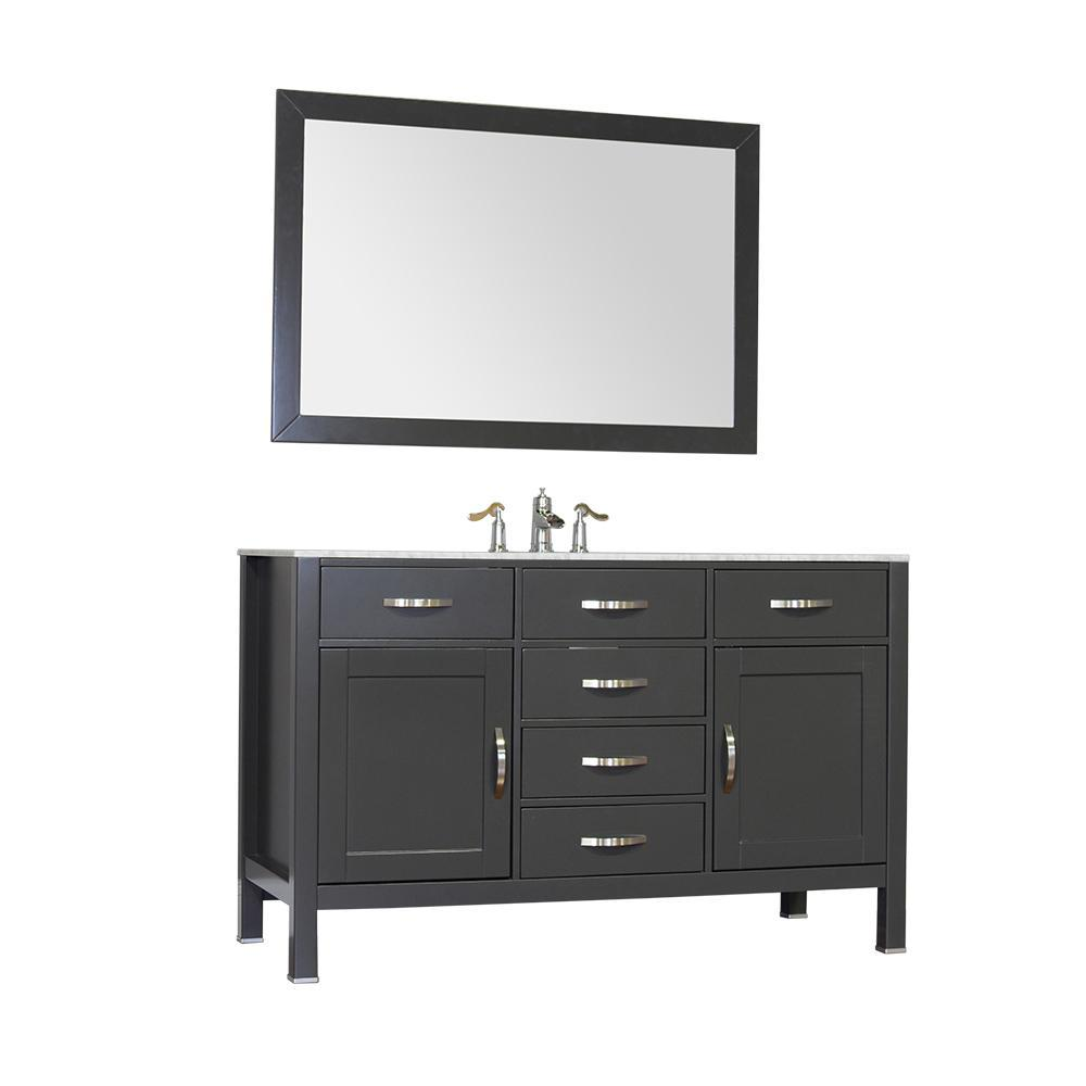 "Alya Bath Hudson 56"" Single Contemporary Bathroom Vanity with Countertop FW-8016-56-G-NT-WMT-NM"