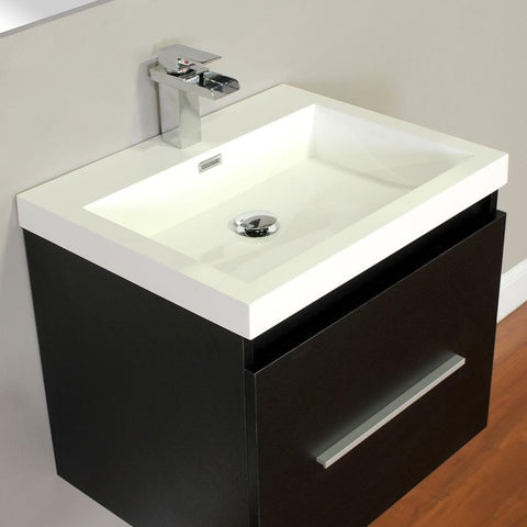 "Image of Alya Bath Ripley 24"" Single Wall Mount Modern Bathroom Vanity without Mirror AT-8006-B"