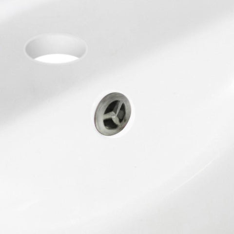 Image of American Imaginations  1.25-in. W Brass Overflow Cap In Brushed Nickel AI-20335