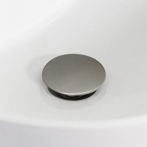 Image of American Imaginations  2.6-in. W Brass Bathroom Sink Drain In Brushed Nickel AI-20324