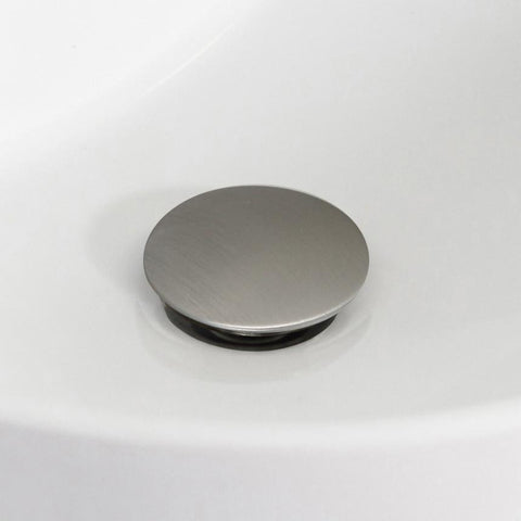 American Imaginations  2.6-in. W Brass Bathroom Sink Drain With Overflow In Brushed Nickel AI-20320