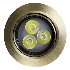 American Imaginations  3.5-in. W Round Brass-LED Recessed Pot Light In Antique Brass Color AI-588