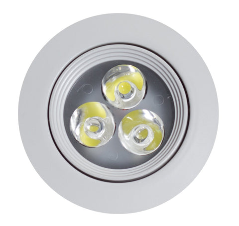 American Imaginations  3.5-in. W Round Brass-LED Recessed Pot Light In White Color AI-589