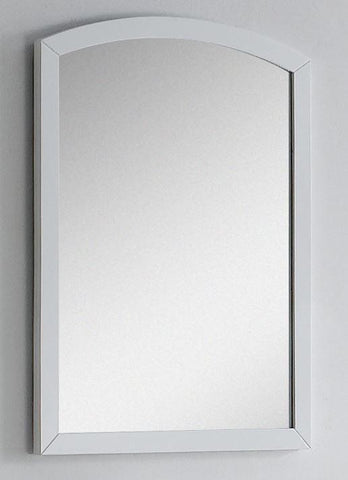 Image of American Imaginations Bow 23.62-in. W X 31.5-in. H Modern Birch Wood-Veneer Wood Mirror In White AI-18265