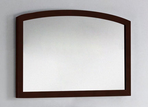Image of American Imaginations Bow 35.43-in. W X 25.6-in. H Modern Birch Wood-Veneer Wood Mirror In Coffee AI-18197