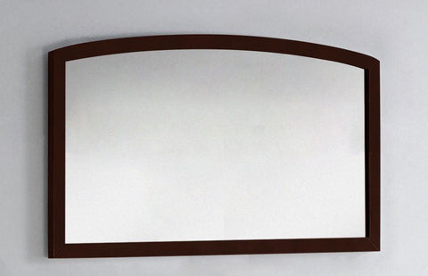 Image of American Imaginations Bow 47.24-in. W X 25.6-in. H Modern Birch Wood-Veneer Wood Mirror In Coffee AI-18198