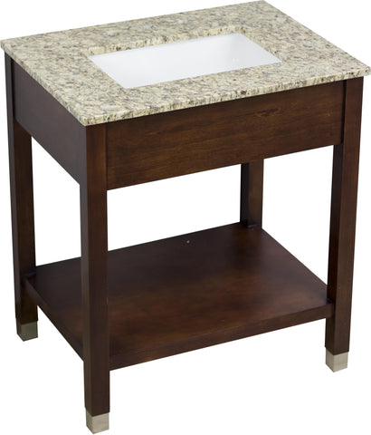 Image of American Imaginations Comfort Inn 30-in. W Floor Mount Cherry Vanity Set For 3H8-in. Drilling AI-1118