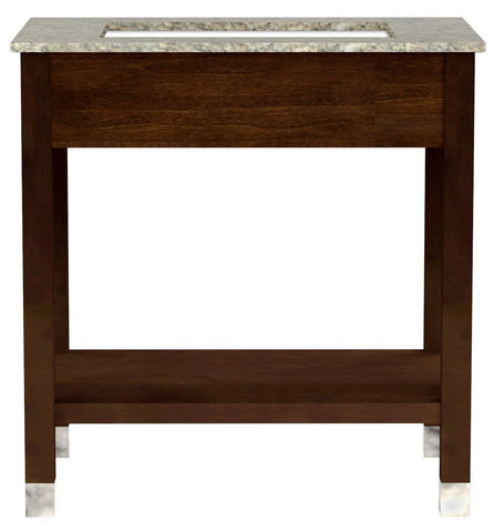 American Imaginations Comfort Inn 30-in. W Floor Mount Cherry Vanity Set For 3H8-in. Drilling AI-1118