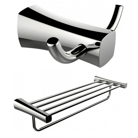Image of American Imaginations  Double Robe Hook And Multi-Rod Towel Rack Accessory Set AI-13278