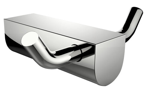 American Imaginations  Double Robe Hook In Chrome AI-3048