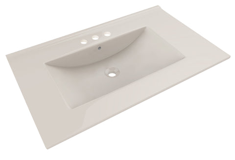 American Imaginations Drake 35.5-in. W X 19.75-in. D Ceramic Top In Biscuit Color For 3H4-in. Faucet AI-420