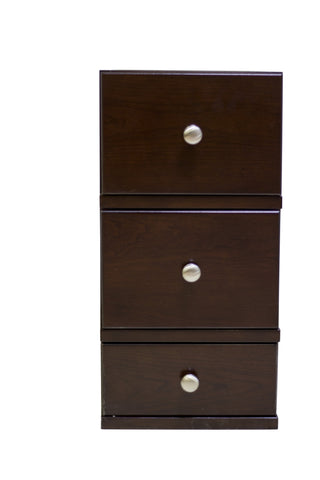 Image of American Imaginations Juliet 12.5-in. W X 23.75-in. H Traditional Birch Wood-Veneer Modular Drawer In Walnut AI-264