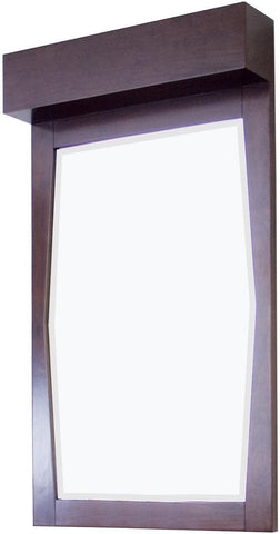 Image of American Imaginations Metro 22.55-in. W X 39-in. H Transitional Birch Wood-Veneer Wood Mirror In Walnut AI-276