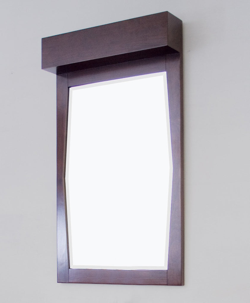 American Imaginations Metro 22.55-in. W X 39-in. H Transitional Birch Wood-Veneer Wood Mirror In Walnut AI-276