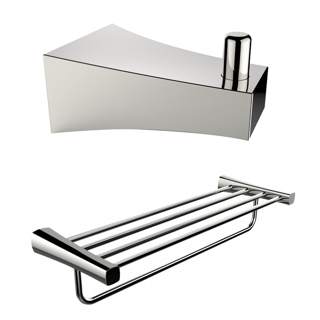 American Imaginations  Multi-Rod Towel Rack And Robe Hook Accessory Set AI-13292