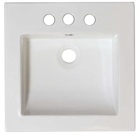 American Imaginations Nikki 21.5-in. W 3H4-in. Ceramic Top Set In White Color - Overflow Drain Incl. AI-15542