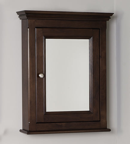 Image of American Imaginations Perri 24-in. W X 30-in. H Traditional Birch Wood-Veneer Medicine Cabinet In Walnut AI-238