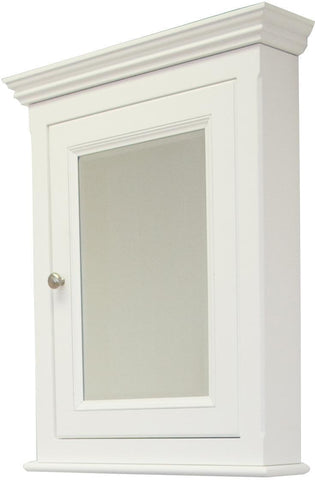 Image of American Imaginations Perri 24-in. W X 30-in. H Traditional Birch Wood-Veneer Medicine Cabinet In White AI-258