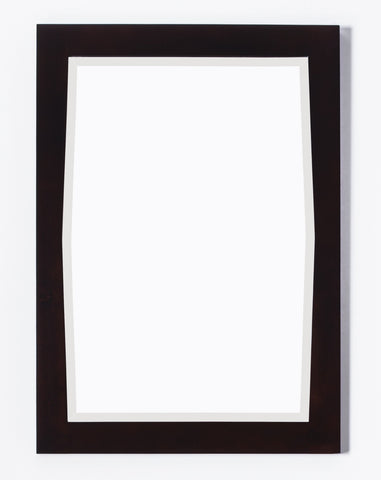 Image of American Imaginations Roxy 24-in. W X 34-in. H Transitional Birch Wood-Veneer Wood Mirror In Antique Walnut AI-400