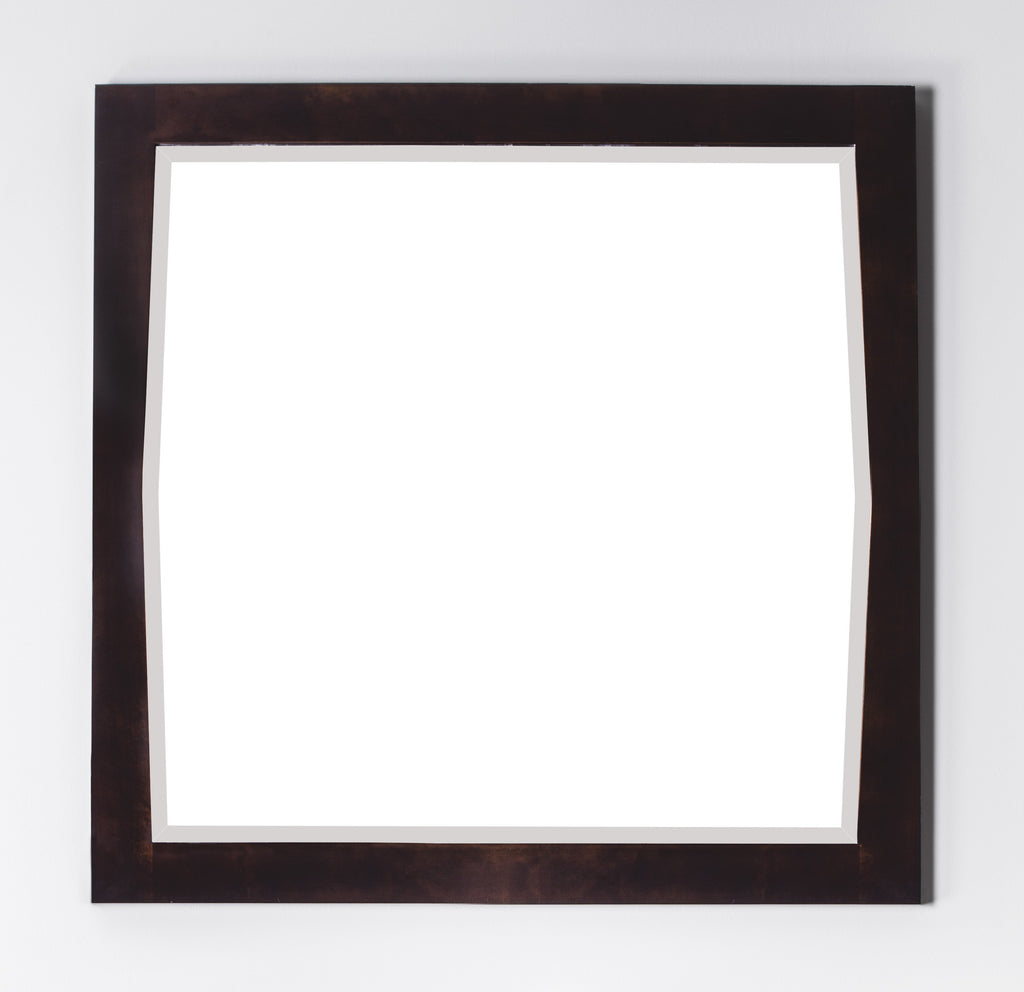 American Imaginations Roxy 34-in. W X 34-in. H Transitional Birch Wood-Veneer Wood Mirror In Antique Walnut AI-401