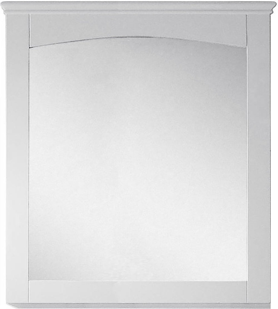American Imaginations Shaker 30-in. W X 31.5-in. H Modern Plywood-Veneer Wood Mirror In White AI-17426