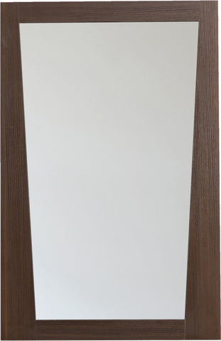 Image of American Imaginations Vee 21.5-in. W X 33.5-in. H Modern Plywood-Melamine Wood Mirror In Wenge AI-1210