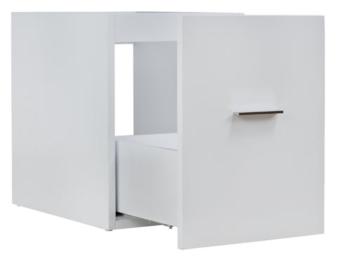 Image of American Imaginations Xena 14-in. W X 17.8-in. H Modern Plywood-Veneer Modular Drawer In White AI-549