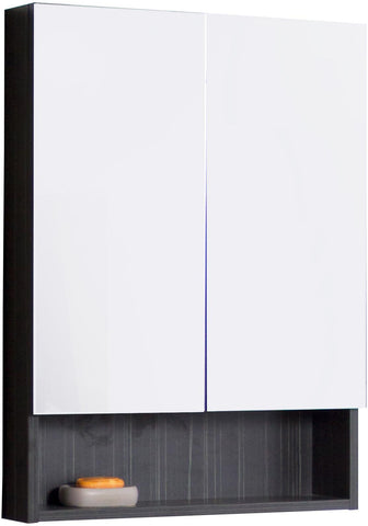 Image of American Imaginations Xena 23.5-in. W X 31-in. H Modern Plywood-Melamine Medicine Cabinet In Dawn Grey AI-543