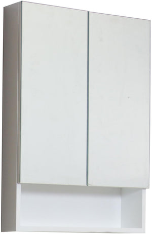 American Imaginations Xena 23.5-in. W X 31-in. H Modern Plywood-Veneer Medicine Cabinet In White AI-547